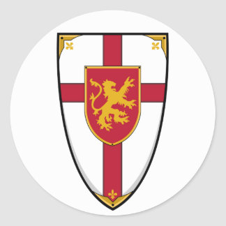 Medieval Knights Shield Sticker