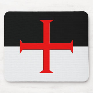 Medieval Knights Templar Cross Flag Mouse Pad