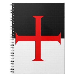Medieval Knights Templar Cross Flag Notebook
