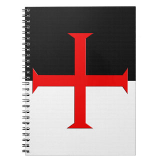 Medieval Knights Templar Cross Flag Notebooks