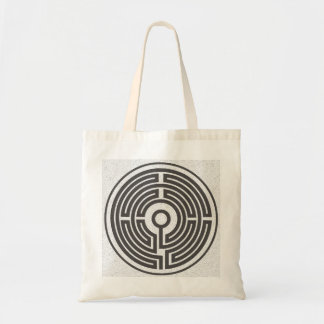 medieval labyrinth small budget tote bag