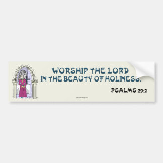 MEDIEVAL LADY BUMPER STICKER 11