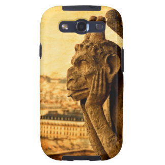 Medieval Le Stryge Gargoyle at Notre Dame Paris Samsung Galaxy SIII Cases