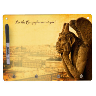 Medieval Le Stryge Gargoyle at Notre Dame, Paris Dry Erase Board