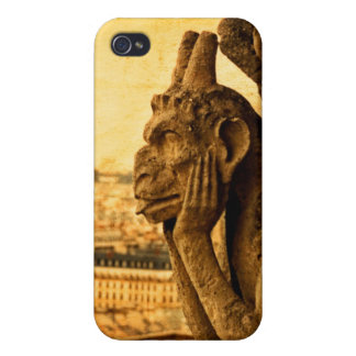 Medieval Le Stryge Gargoyle at Notre Dame Paris iPhone 4 Covers