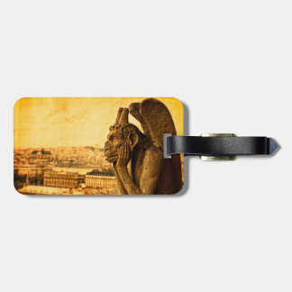 Medieval Le Stryge Gargoyle at Notre Dame, Paris Luggage Tag