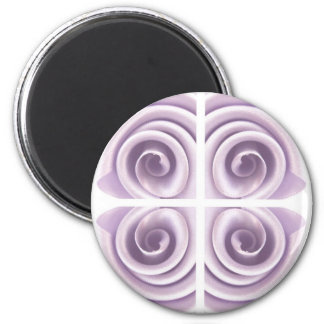 Medieval Lilac Rose Swirls Magnet