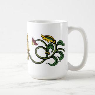 Medieval Lion Design Basic White Mug