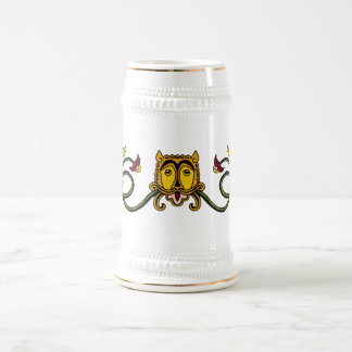 Medieval Lion Design Beer Stein