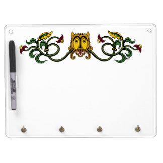Medieval Lion Design Dry Erase Board With Key Ring Holder