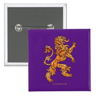 Medieval Lion on Purple 15 Cm Square Badge
