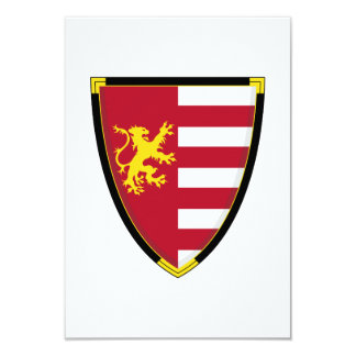 Medieval Lion Shield RSVP Card 9 Cm X 13 Cm Invitation Card