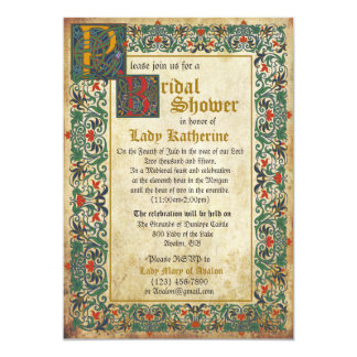 Medieval Manuscript Bridal Shower Invitation Card