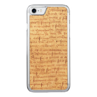 Medieval manuscript carved iPhone 7 case