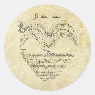 Medieval Manuscript Heart Stickers