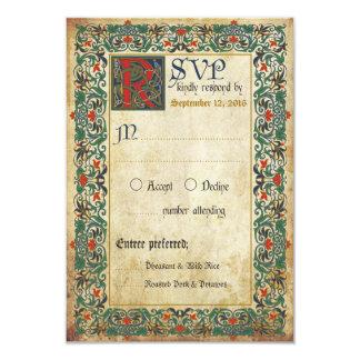 Medieval Manuscript RSVP Card