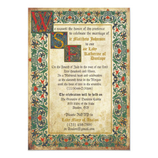 medieval manuscript wedding invitation card - Medieval Wedding Invitations