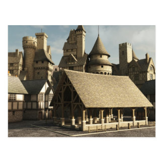 Medieval Marketplace Postcard