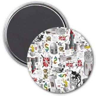 Medieval Mash-up 7.5 Cm Round Magnet