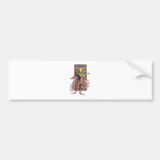Medieval Minstrel and Lute Bumper Stickers
