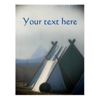 Medieval mists Norse tent Photograph Postcard