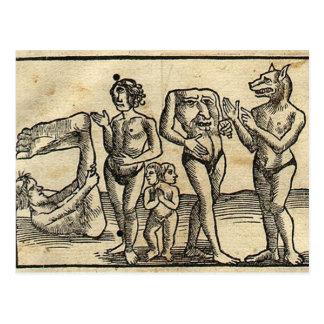 Medieval Monsters Postcard