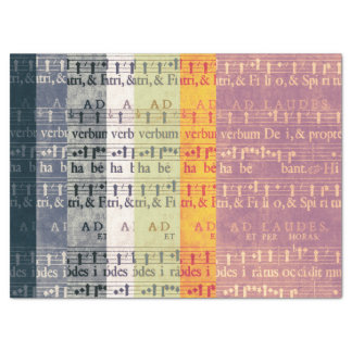 Medieval Multi-colored Music Manuscripts Tissue Paper