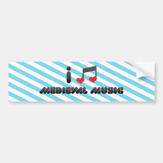 Medieval Music Bumper Sticker