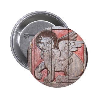 Medieval Mythological Lion -  Lion Of Saint Mark 6 Cm Round Badge