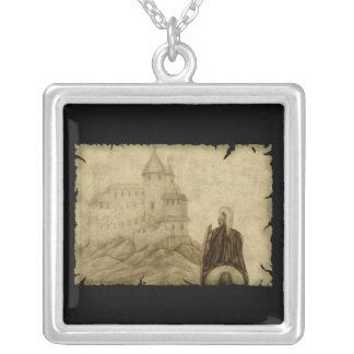 Medieval Square Pendant Necklace