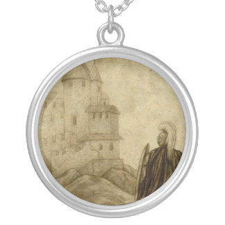 Medieval Round Pendant Necklace