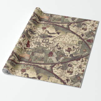 Medieval Old Map Wrapping Paper