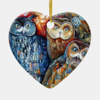 Medieval owls ornaments