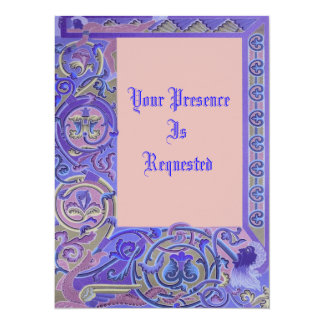 Medieval Patterns Personalized Invites