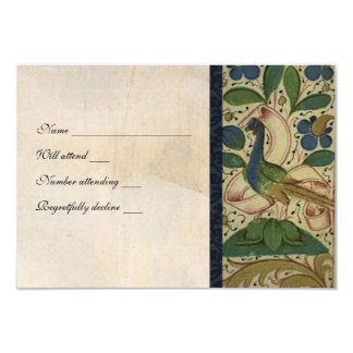 Medieval Pheasant Parchment rsvp with envelopes Personalized Announcement