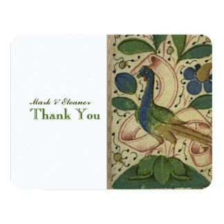 Medieval Pheasant Personalized Thank YOu 11 Cm X 14 Cm Invitation Card