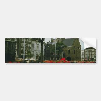 Medieval Prison In The Hague flowers Bumper Sticker