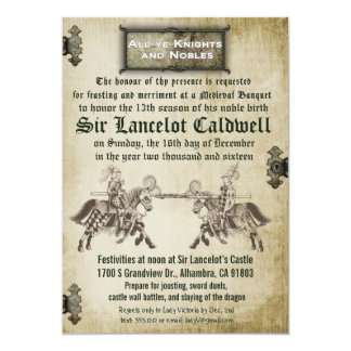 Medieval Renaissance Birthday Wedding Invitation