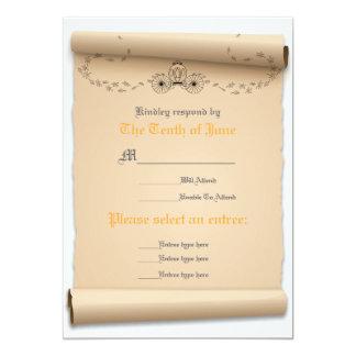 Medieval Response Flat Card Invitation Stock