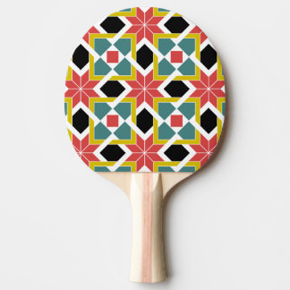 Medieval romanesque red cross ping pong paddle
