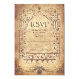 Medieval RSVP 9 Cm X 13 Cm Invitation Card