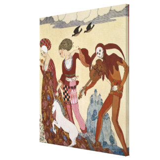 Medieval Scene by Georges Barbier Canvas Print