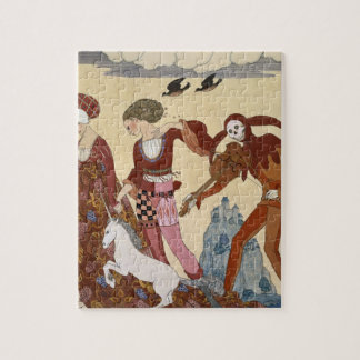 Medieval Scene by Georges Barbier Puzzles