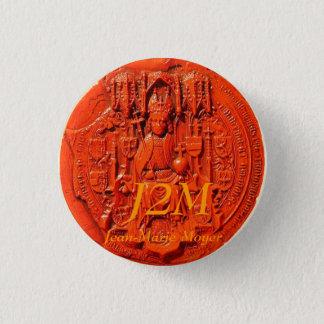 medieval seal, J2M, Jean-Marie Moyer 3 Cm Round Badge