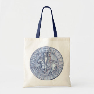 Medieval Seal of the Knights Templar Budget Tote Bag