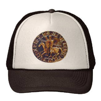 Medieval Seal of the Knights Templar Cap