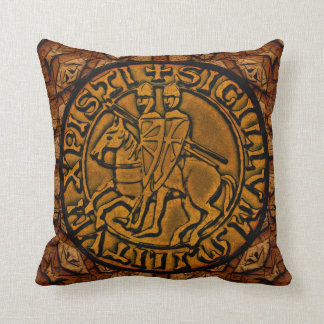 Medieval Seal of the Knights Templar Cushion