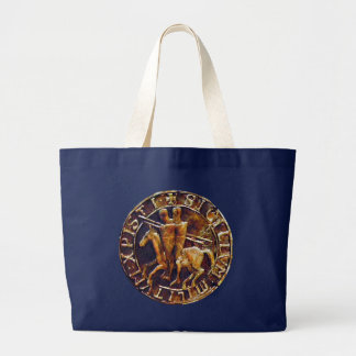 Medieval Seal of the Knights Templar Jumbo Tote Bag