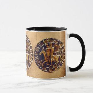 Medieval Seal of the Knights Templar Mug