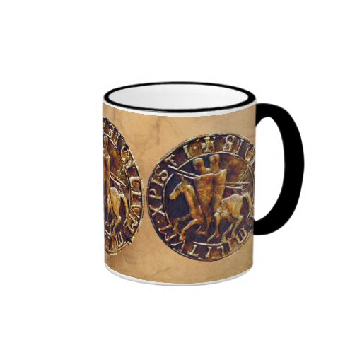 Medieval Seal of the Knights Templar Coffee Mugs